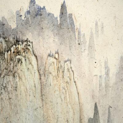 Misty rain hidden mountain 烟雨隐奇峰