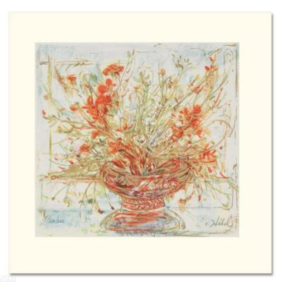 """""""Summer's End"""" Limited Edition Serigraph by Edna Hibel"""