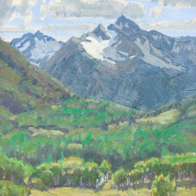 """Wayne Wolfe (b. 1944), """"Spring in Colorado"""", 1987"""
