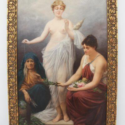 A. Snyder, Venus, Oil on Canvas, circa