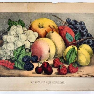 Currier and Ives, Fruit and Flowers and Fruits of the Seasons