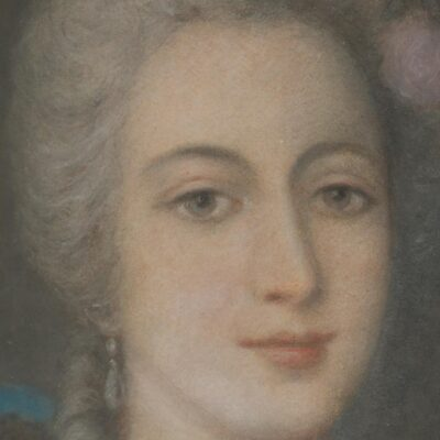 French School, Portrait of a Lady, Chalk on Paper