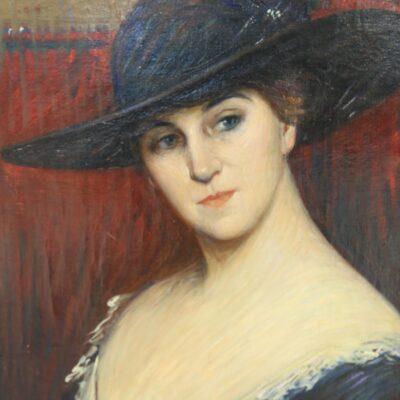 Joseph Green Baum, Portrait of a Woman, Oil on Canvas