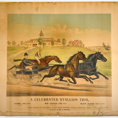 Two Horse champion Hand Colored Lithographs, N. Currier and Currier and Ives