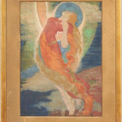 Daniel MacMorris O/B Painting, Allegorical Depiction of