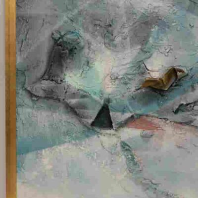 DOBRINICH, MIXED MEDIA LARGE FORMAT PAINTING H 48″ L