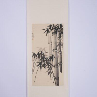 A CHINESE PAINTING OF BAMBOOS
