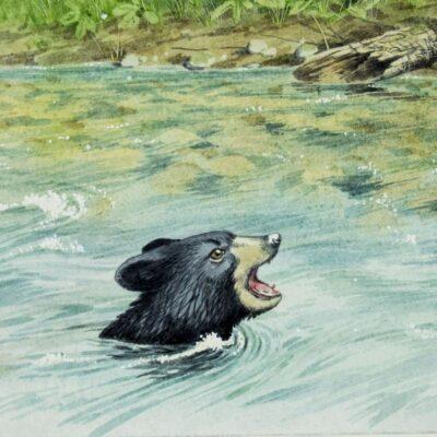 Peter Barrett (UK,born 1935) watercolor painting