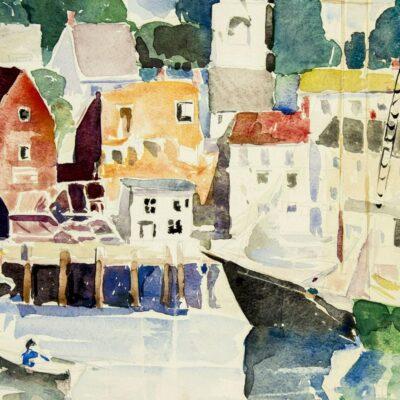 Susette Keast (PA,1892-1932) watercolor painting