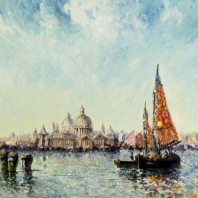 Laszlo Michael Ritter (Hungary,1937-2003) oil painting