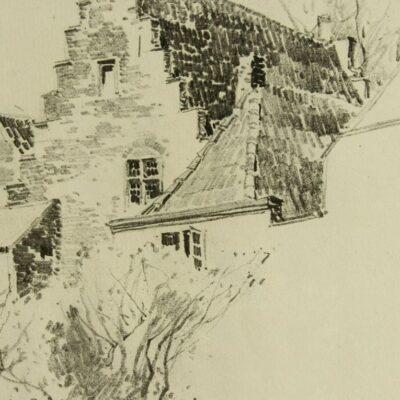 Charles Herbert Woodbury (ME,MA,1864-1940) watercolor