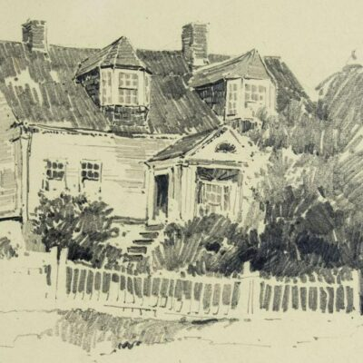 Charles Herbert Woodbury watercolor