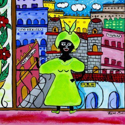 Rene Avello (Cuba,US,20/21C) acrylic painting